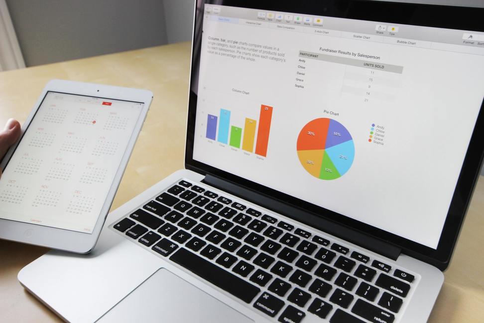analyse financiere sur un desktop