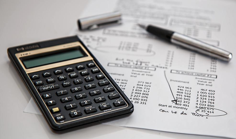 calculatrice et facture